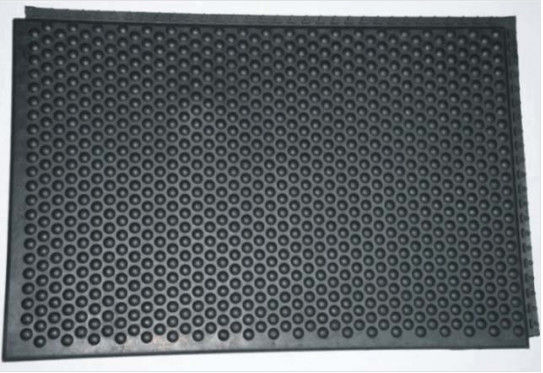 Black Anti Static Rubber Floor Mats , Customized Anti Static Grounding Mat